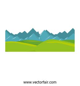 isolated snowy mountains view