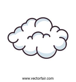 isolated cute clouds