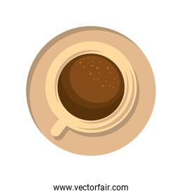 isolated cup of coffee