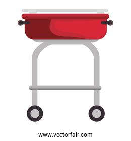 Barbecue grill isolated