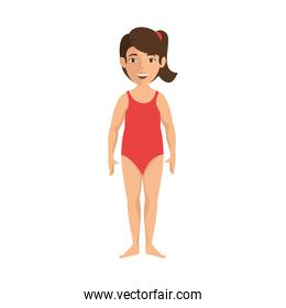isolated cute standing women