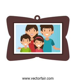 frame with family picture
