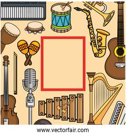 frame of Music instruments