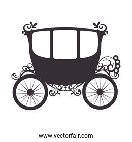 medieval carriage silhouette icon