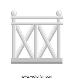 wooden fence icon