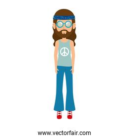 Hippie man cartoon