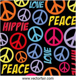 Hippie peace symbol background