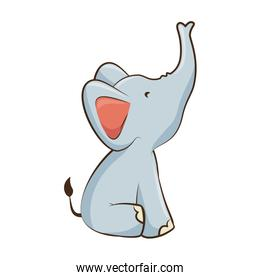 cartoon elephant animal icon