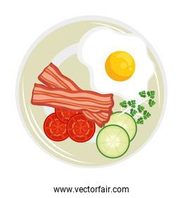 eggs with bacon breakfast