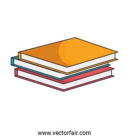 Books piled up