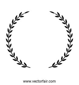 wreath crown isolated icon