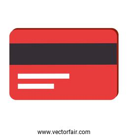 Credit card over white