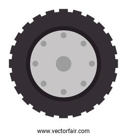 tractor tire isolated