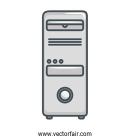 tower computer isolated icon
