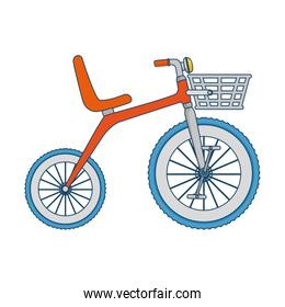 cute tricycle isolated icon