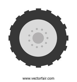 tractor tire isolated icon
