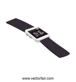 wristwatch clock isolated icon