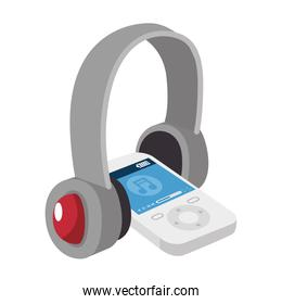 music player with headset
