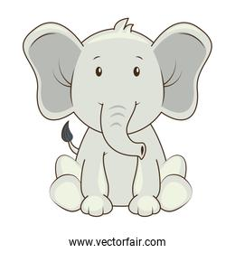 cute elephant character icon