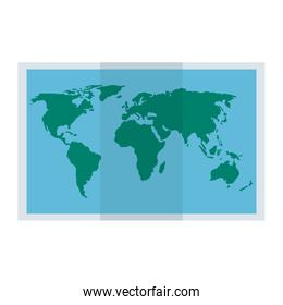 world map paper icon