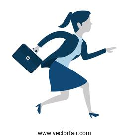 successful businesswoman with portfolio avatar character