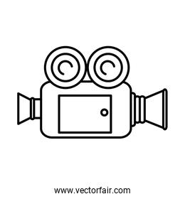 video camera isolated icon