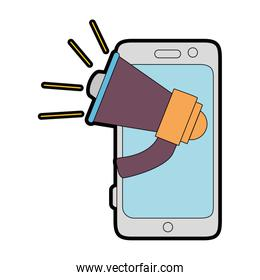 smartphone device with megaphone