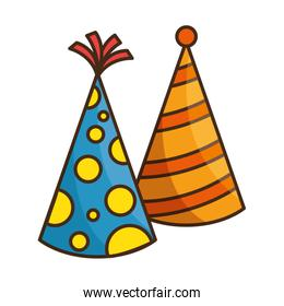 party hats decorative icon