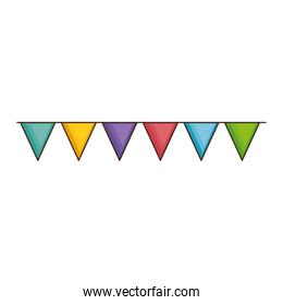 garlands hanging party decoration