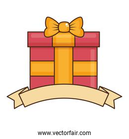 gift box present with ribbon