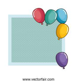 balloons air party frame
