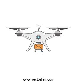 drone flying technology with envelope