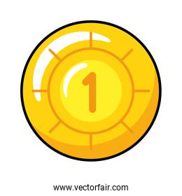 pixelated coin game icon