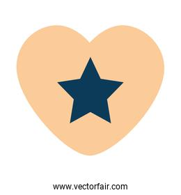 heart with star isolated icon