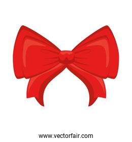 red bowtie decorative isolated icon