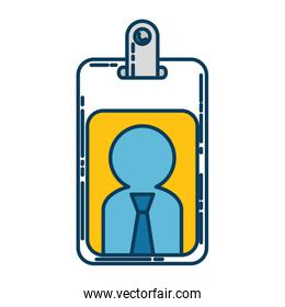 worker badge isolated icon