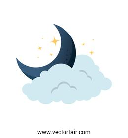 cloud weather with moon
