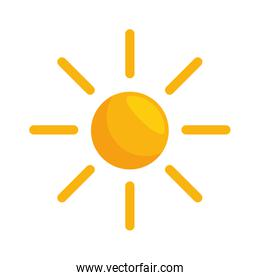 summer sun isolated icon