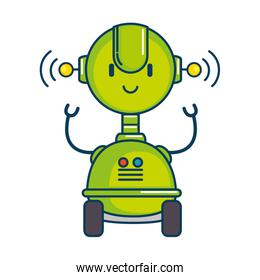 electronic robot with wheels