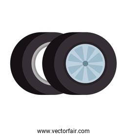car tires isolated icon