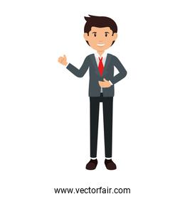 businessman avatar character icon