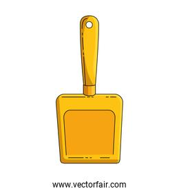 dustpan clean isolated icon
