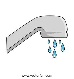 water faucet isolated icon