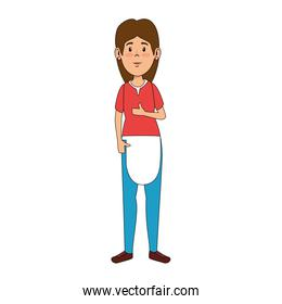 woman with apron avatar