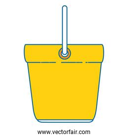 bucket clean isolated icon