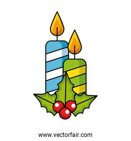 merry christmas candles decoration