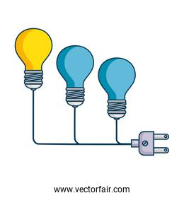 bulb light with connector