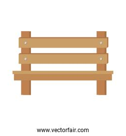 wooden park chair icon