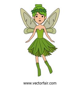 beautiful fairy flying character