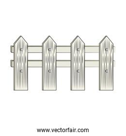 wooden fence isolated icon